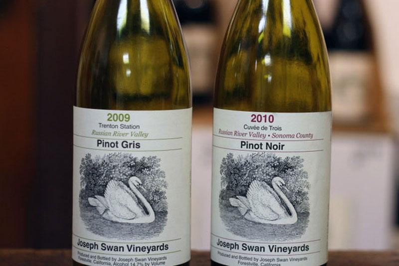 joseph swan vineyards pinot noir pinot gris