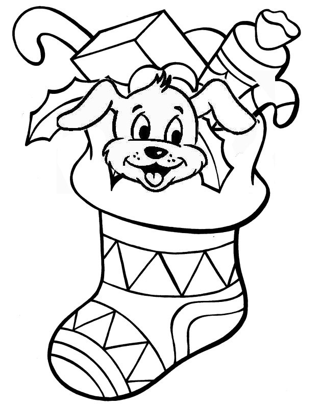 Christmas Coloring Pages Printable Worksheets The  - christmas stockings coloring pages