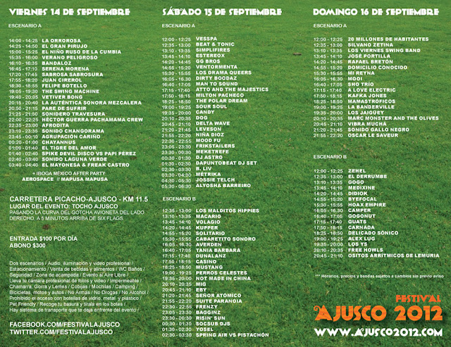 Programa completo del Festival Ajusco 2012
