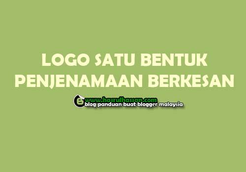 Logo Satu Bentuk Penjenamaan Blog Berkesan