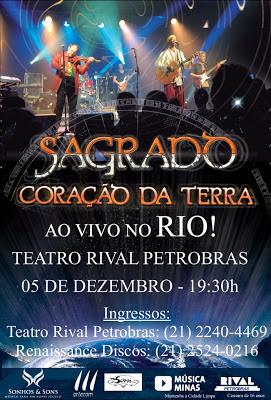 Dia 5-12 Marcus Vianna e Sagrado Coração da Terra no Rio de Janeiro