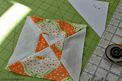 Double Hourglass Quilt Square