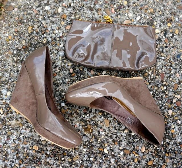 zapatos charol cuña