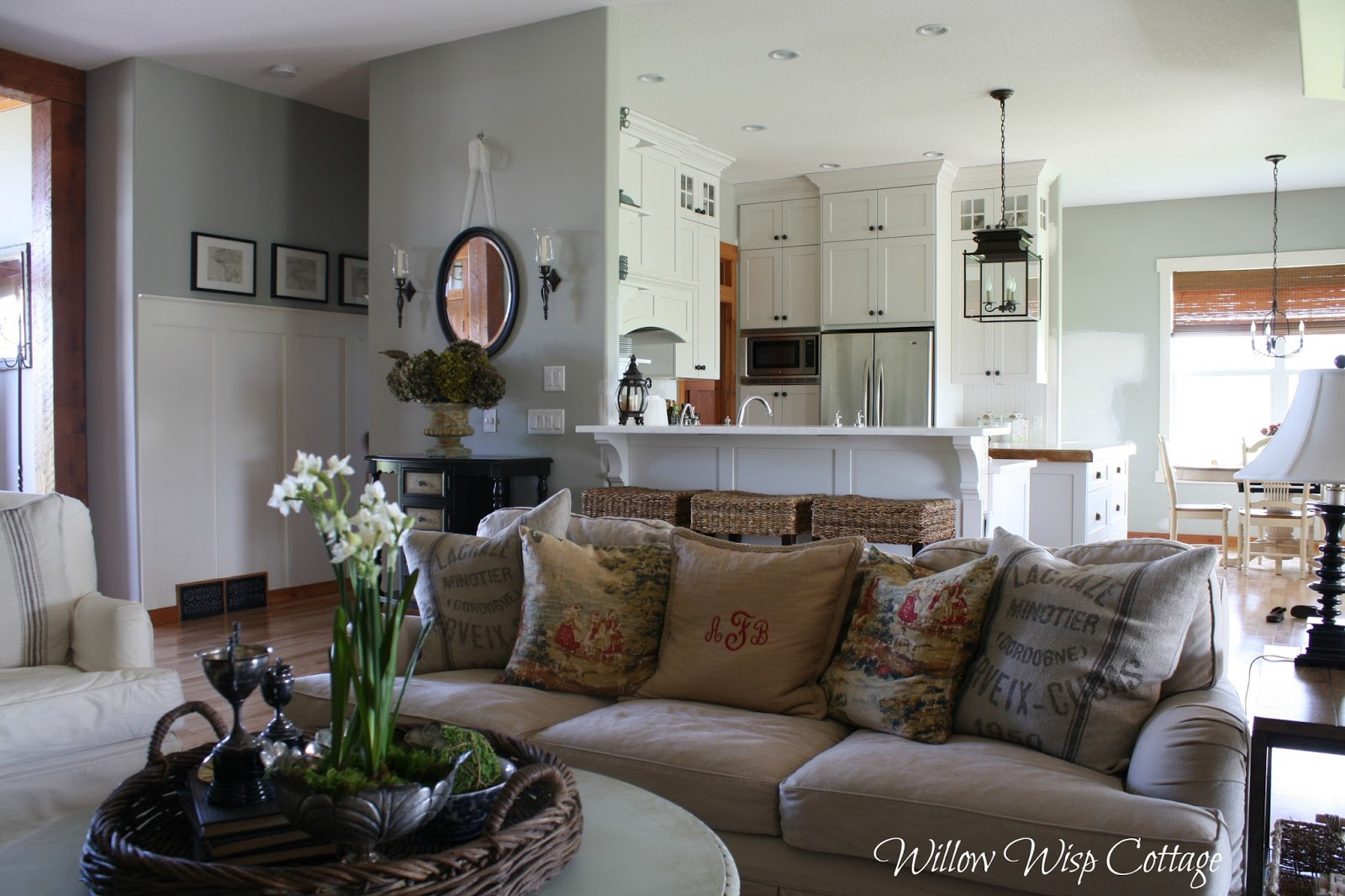 cottage style family room