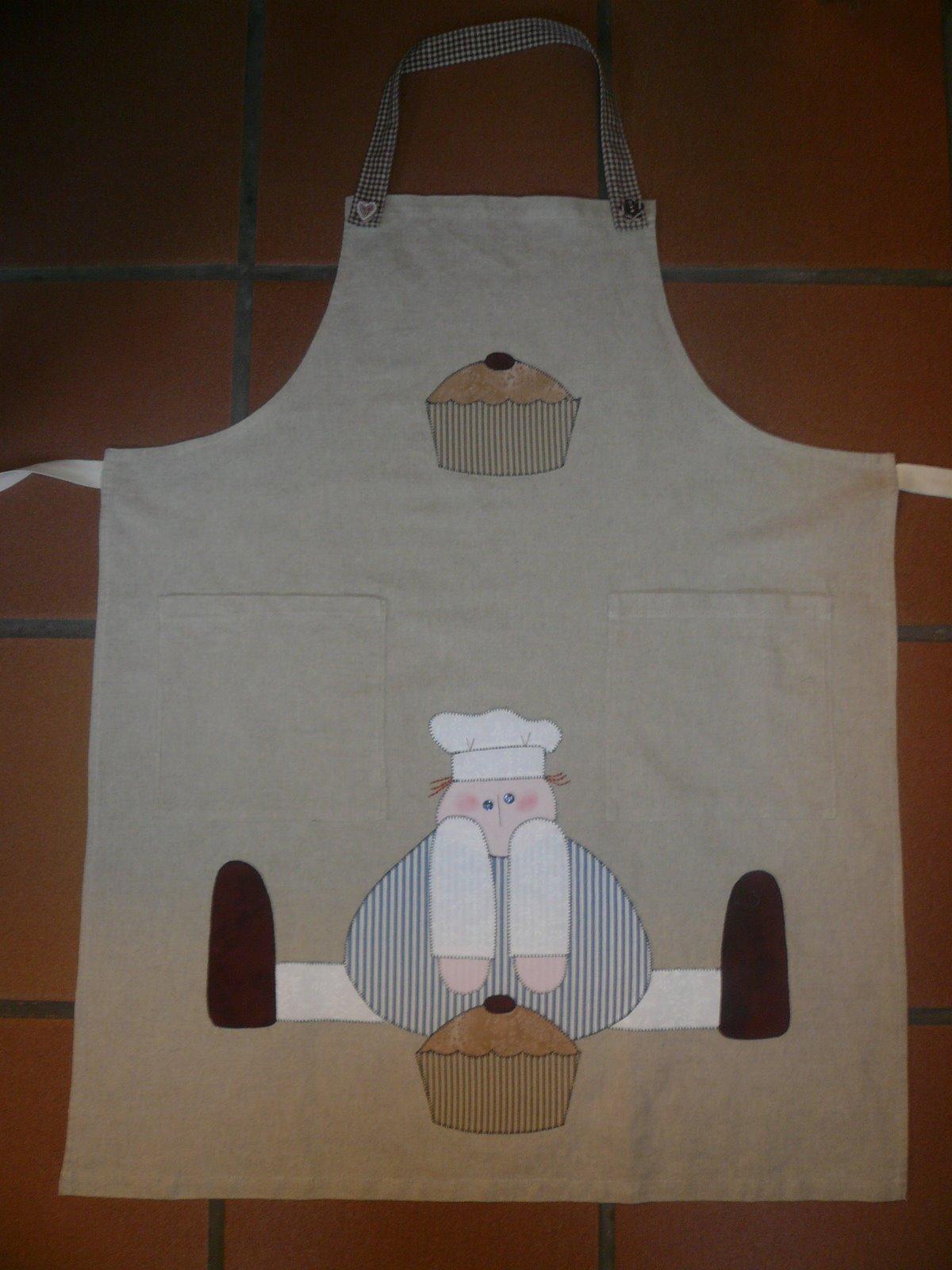 Patchwork santin delantales cocina for Delantales de cocina