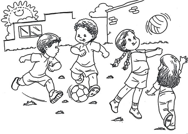 Niño peleando con otros para colorear - Imagui