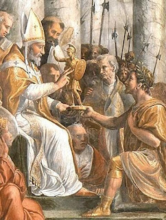 Pope St. Sylvester and Constantine