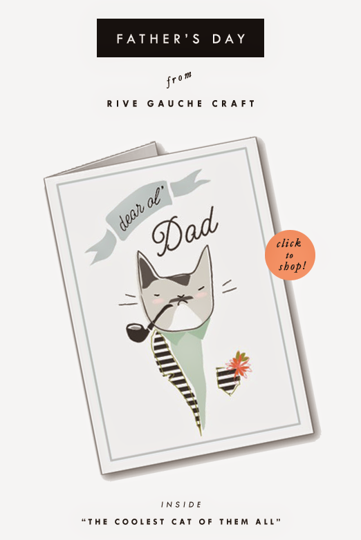 Cool Cat Father's Day Card from Rive Gauche Craft