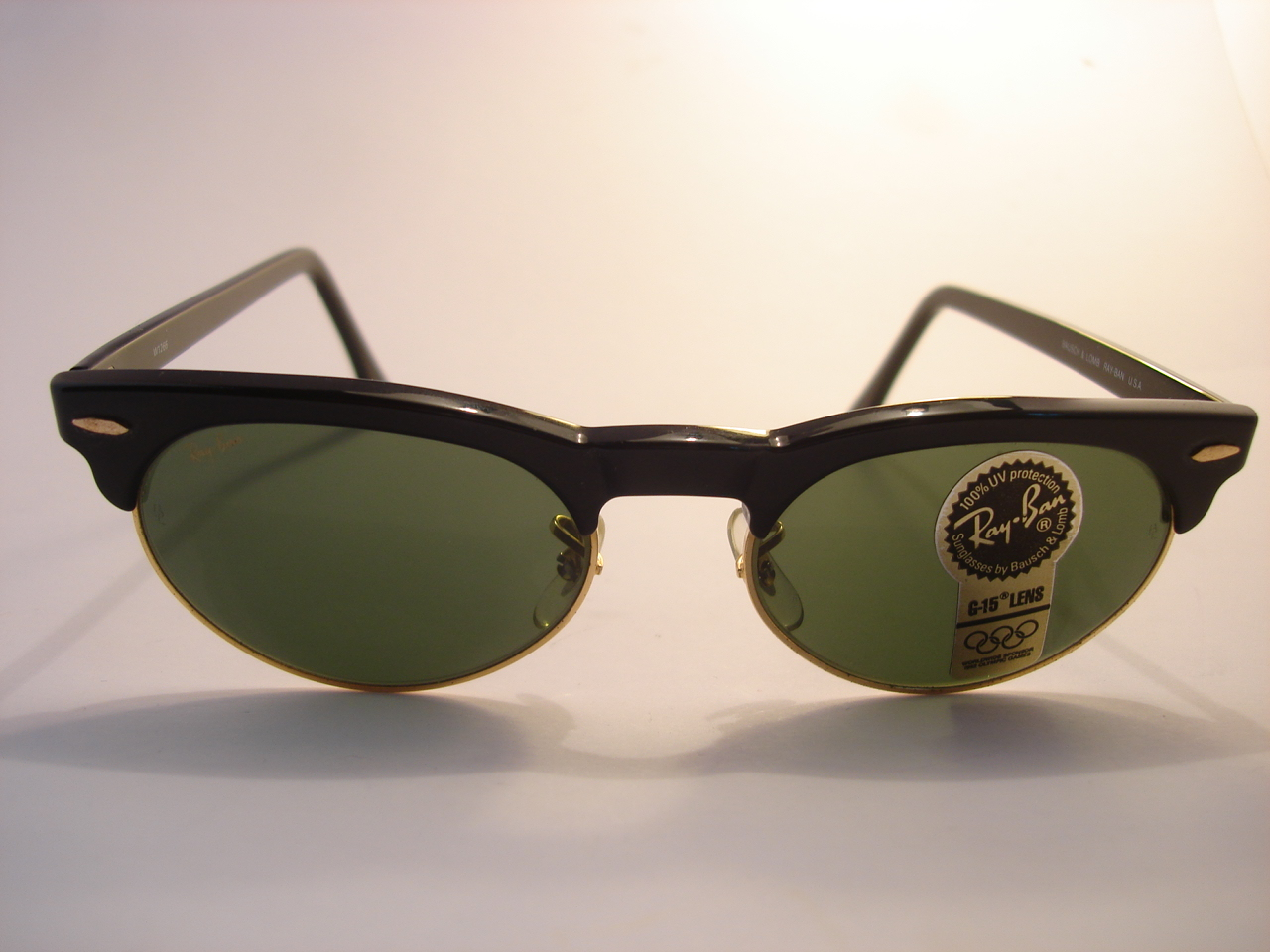 theothersideofthepillow  vintage RAY BAN by BAUSCH AND LOMB B L W1266 black  clubmaster . 978e4d35466b