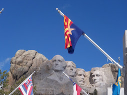 AZ flag at Mt. Rushmore