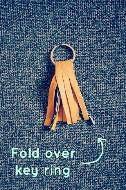 Fold over key ring