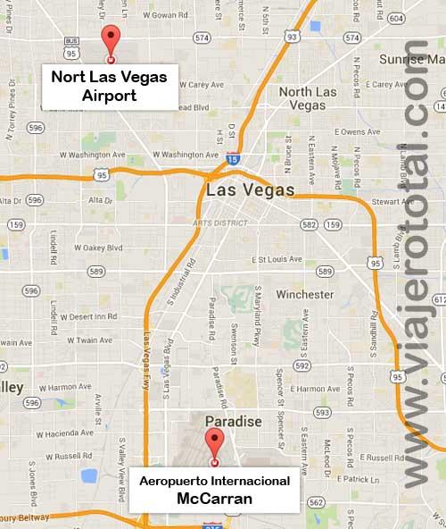 Mapa de los Aeropuertos de Las Vegas