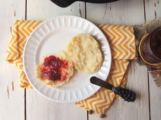 ... Happy Plate: Lemon Buttermilk Biscuits with Birthday Strawberry Jam