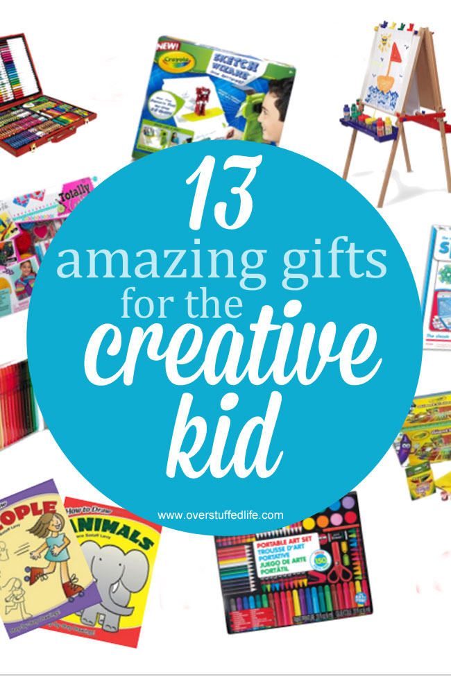 Have a creative kid who can't stop making art? Find the perfect gift on this gift guide for the creative kid. #overstuffedlife