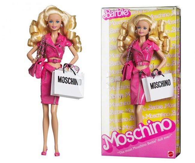 Moschino SS15 Barbie Pink Cropped Biker Perfecto Jacket With Leather Pencil Skirt