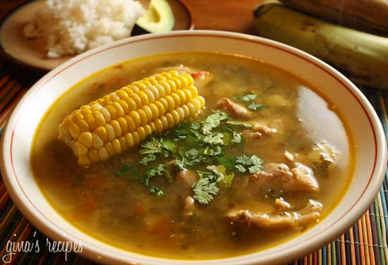 ... aromatic chicken soup from columbia sancocho is a hearty soup