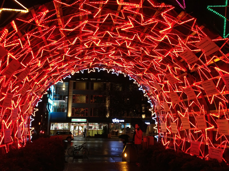 Lights of Hope Star Tunnel Vancouver