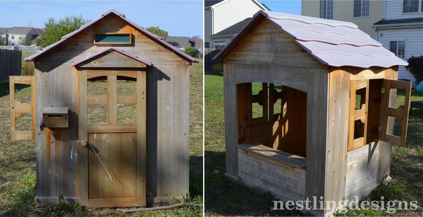 nestling diy haunted play house. Black Bedroom Furniture Sets. Home Design Ideas