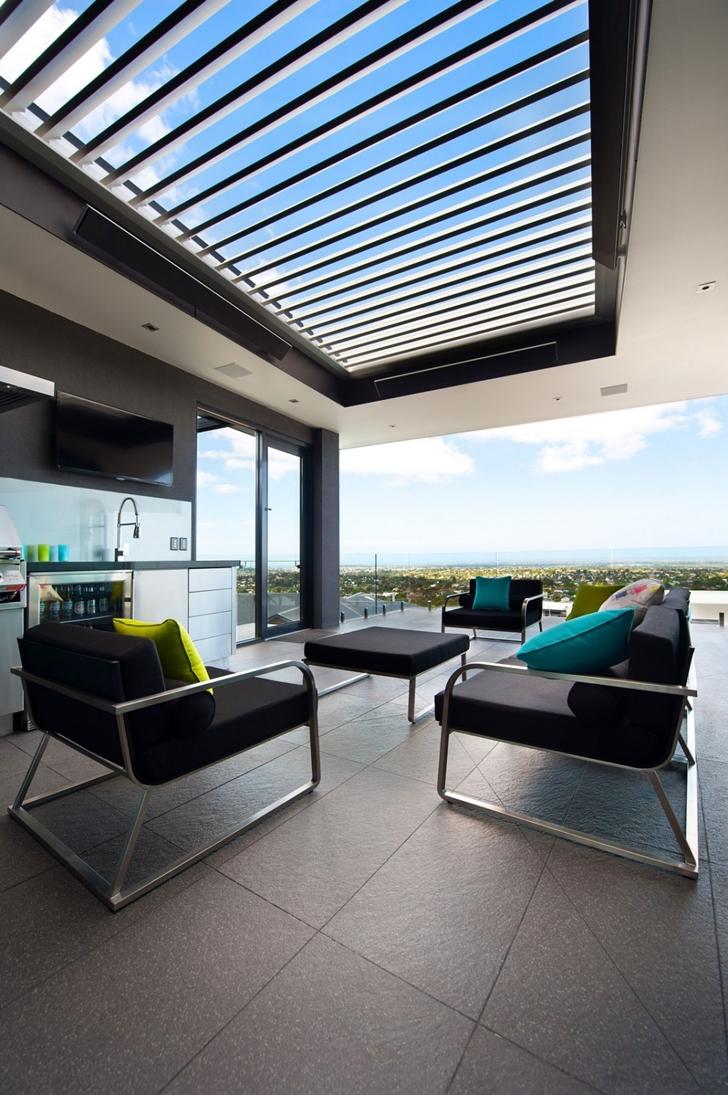 Modern terrace furniture in Dream home in black and blue