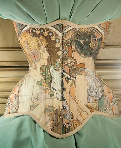 Alfons Mucha Corset, $290