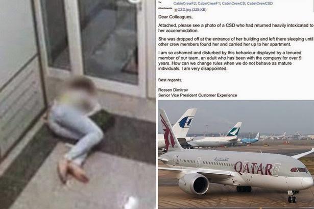 Pramugari Qatar Airways Mabuk, Bos Sebarkan Fotonya