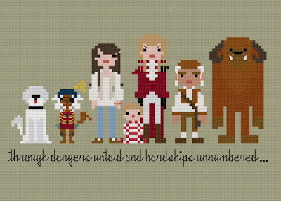 Labyrinth Cross Stitch