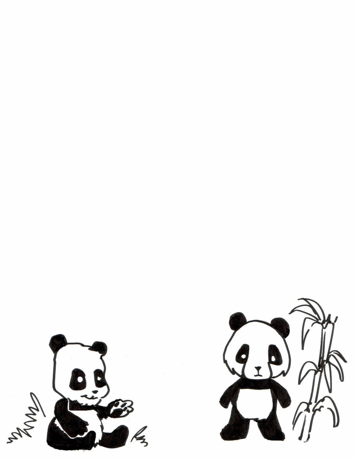Panda template kids - photo#22
