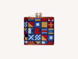 Smathers & Branson needlepoint flask