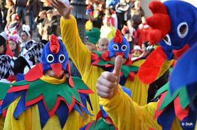 imagen del carnaval de Béjar en la plaza Mayor
