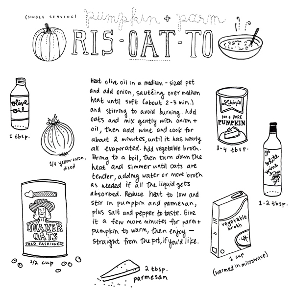 pumpkin parmesan risotto recipe || pantopaper.com