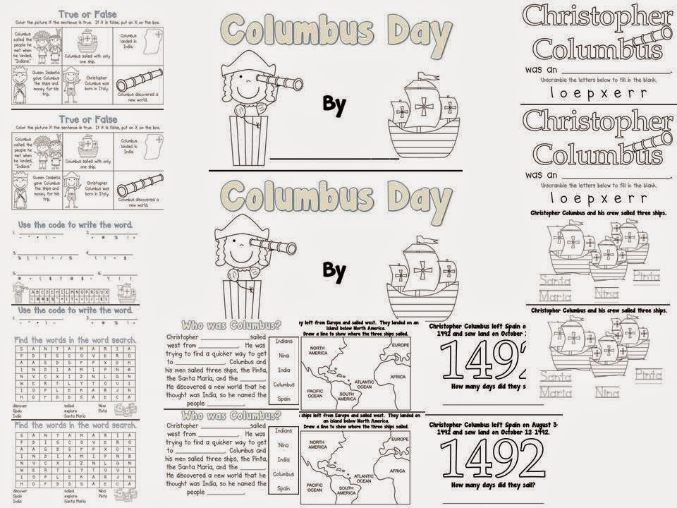 http://www.teacherspayteachers.com/Product/Columbus-Day-Book-343456