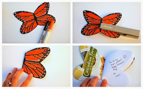 how to make a butterfly notebook