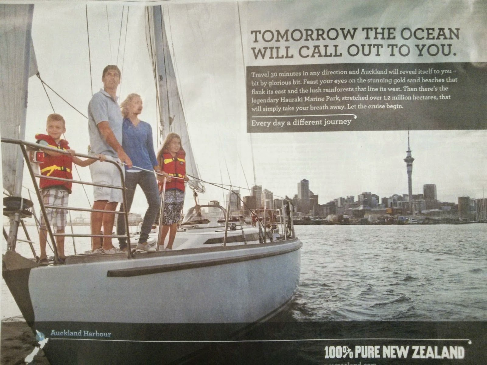 Tourism New Zealand Stephen Fleming Print Ad