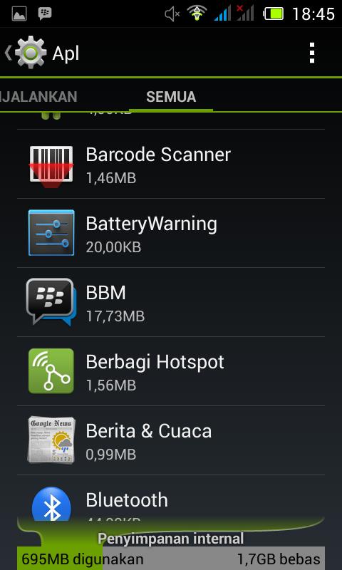 setting ulang bbm android