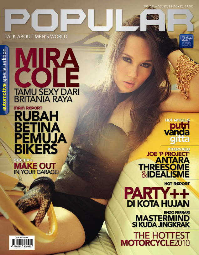 Mira Cole Model Hot Majalah Popular