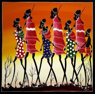 Afican tingatinga art