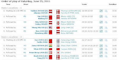 hasil semifinal Indonesia open 2011