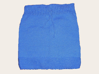 fusta handmade tricotata bleu