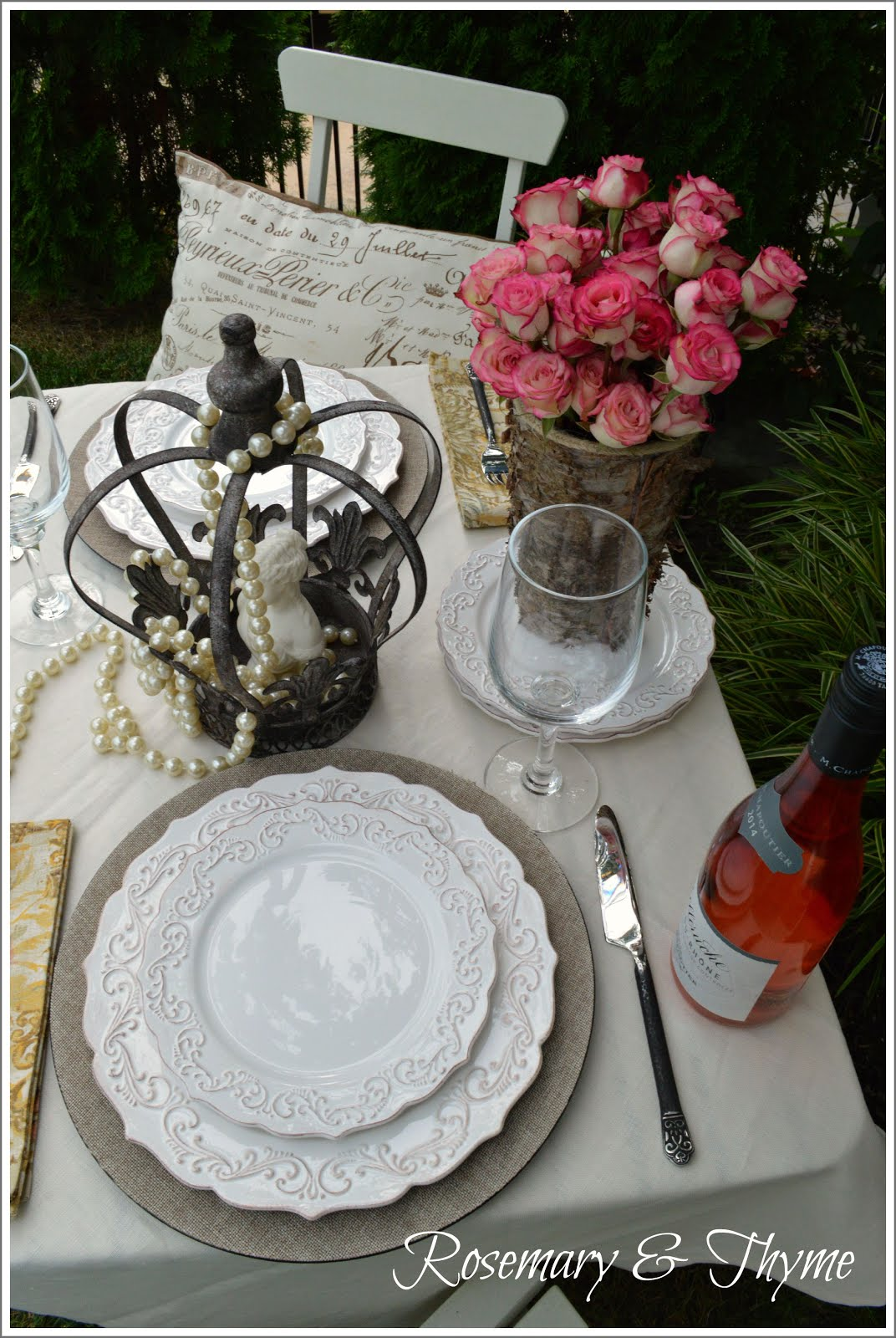 Rustic Romantic Tablescape