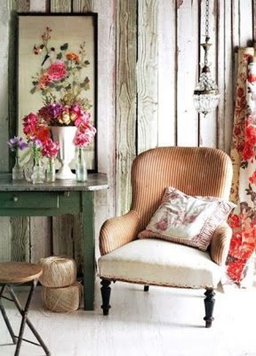 rustic and romantic room details