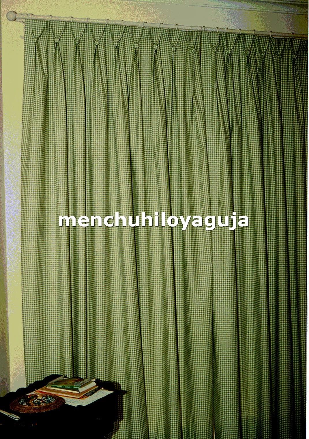 Novedades paola cortinas visillo con tablas y botones for Cortinas verdes para salon