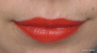 Purty Persimmon lip swatch