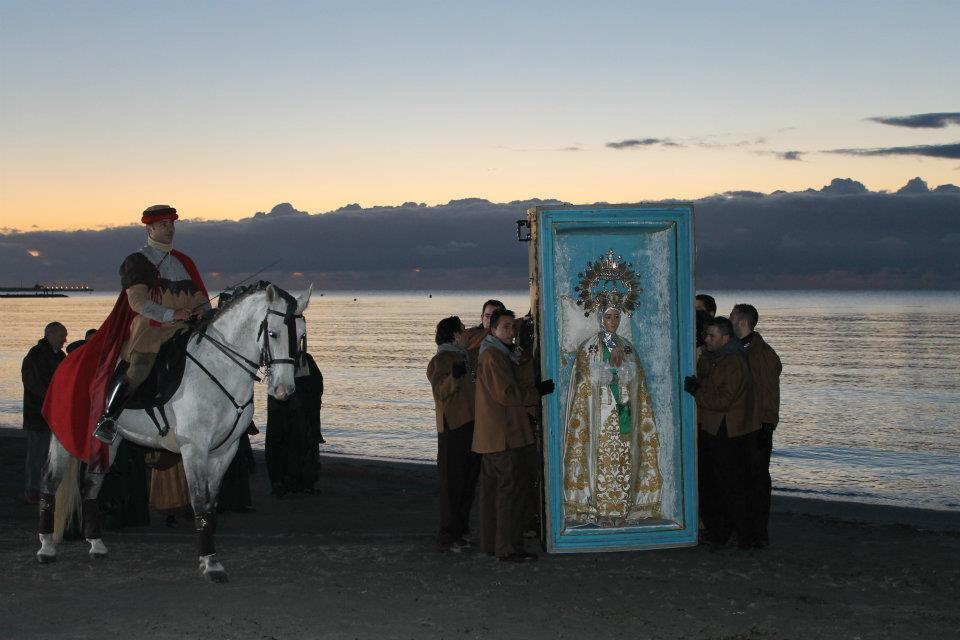 Francesc Canto en la Playa del Tamarit