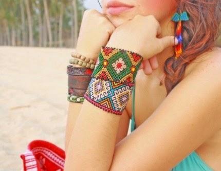 Huichol bracelets cuffs