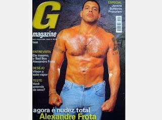 """Alexandre Frota foi o """"muso"""" da revista G Magazine e posou cinco vezes. O ator, diretor, empresário e comediante nunca teve vergonha do corpo e posou até para uma edição especial da publicação."""