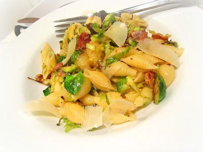 What's for Dinner? Pasta w/ Brussels Sprouts & Pancetta