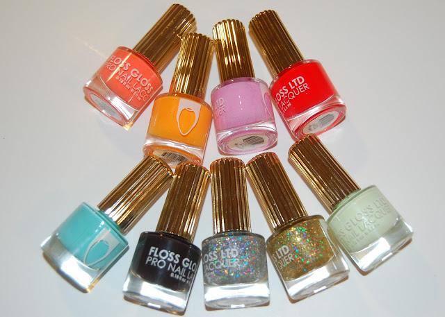 Floss Gloss Bikini Coral, Neon Nacho, Perf, Fastlane, Wavepool, Partybruise, Dimepiece, Stun, Glowstar