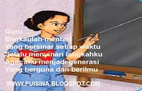 Puisi  Pendidikan Terimakasih Untuk Guruku
