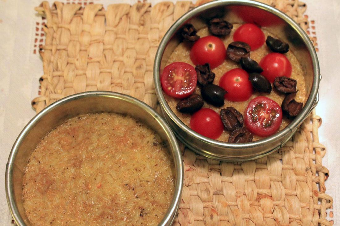 Torta rustica pomodori e olive