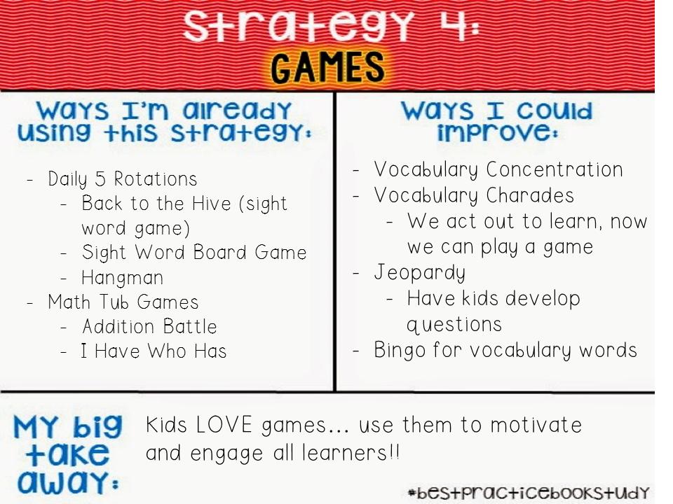 Book Study: Games - JD\'s Firsties